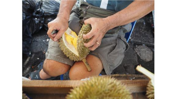"""New experiences: """"If you're looking for experiences, a really great way to do it is to hunt durian,"""" says Gasik."""