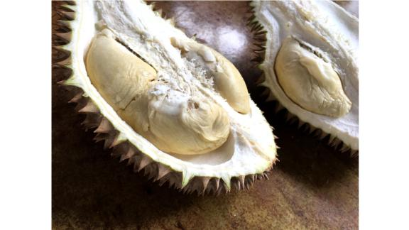 The right cut: In Thailand, people prefer to eat durian a little bit early to give them a longer shelf life and a starchy, sweet flavor with hardly any aroma at all.