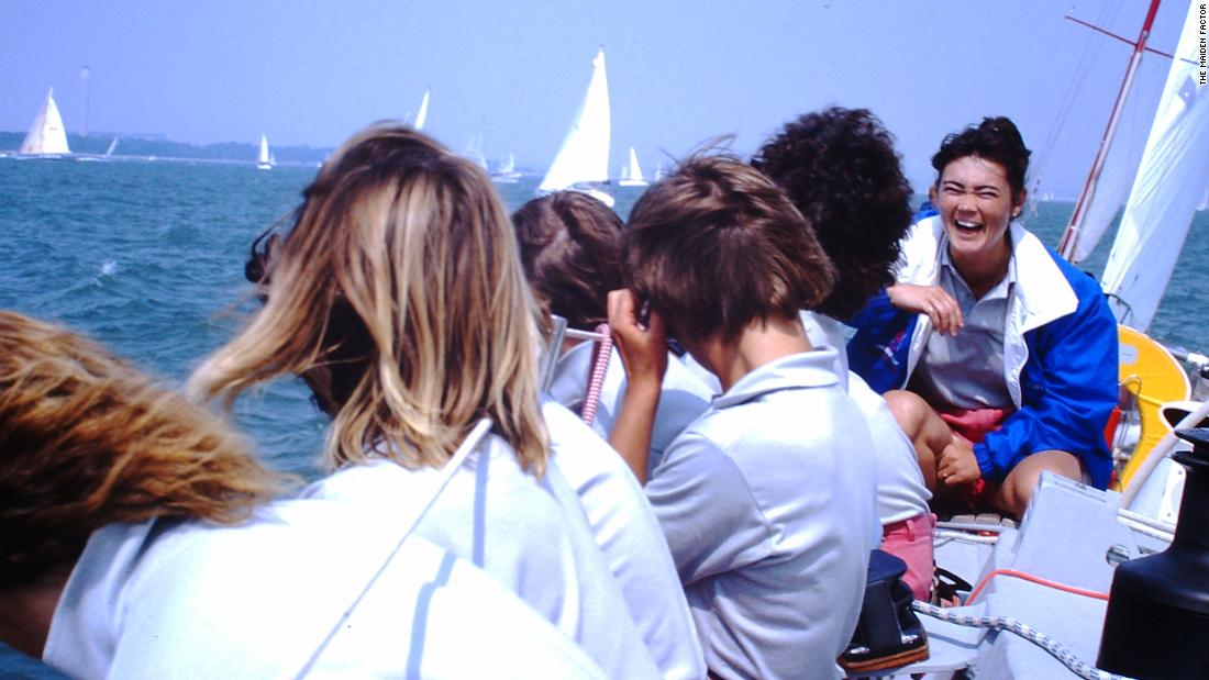 Tracy Edwards, pictured right, skippered the first all-female crew to sail the Whitbread Round the World Race.