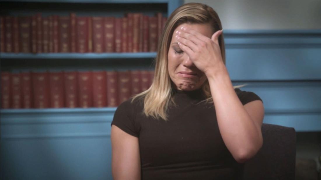 Whenever she hears the word God, she says flashbacks of abuse keep coming back