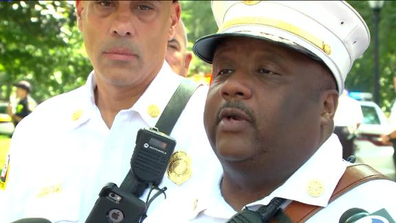 New Haven Fire Chief John Alston said a series of overdoses occurred in New Haven Green on August 15, 2018.