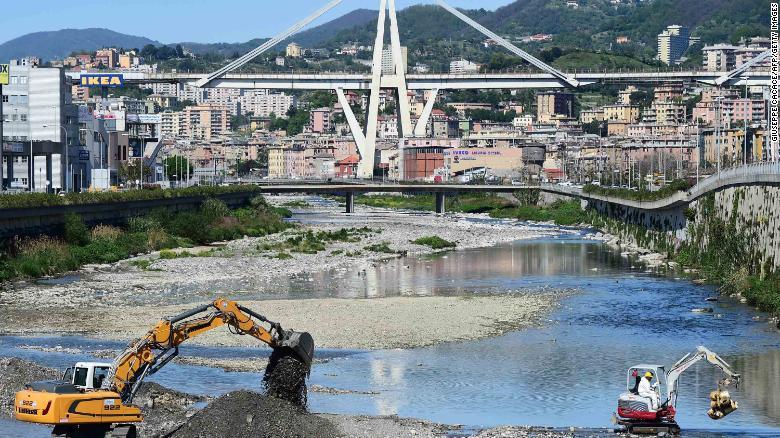 The Morandi Bridge is seen intact in a 2016 photo.