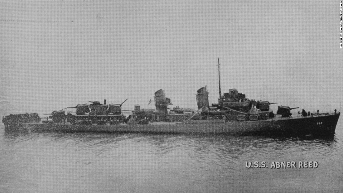 Resting spot for scores of WWII sailors and stern of ship found