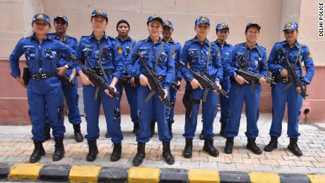 Members of the SWAT team pose for a photo. They were trained for 15 months before being deployed for the first time.