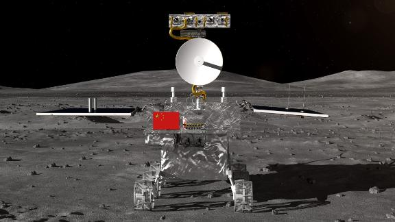China's rover for the Chang'e-4 lunar probe, which is expected to land on the far side of the moon this year, was unveiled Wednesday.