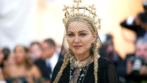 "Madonna attends The Metropolitan Museum of Art's Costume Institute Benefit gala celebrating the opening of the   ""Heavenly Bodies: Fashion and the Catholic Imagination"" exhibition on May 7 in New York."