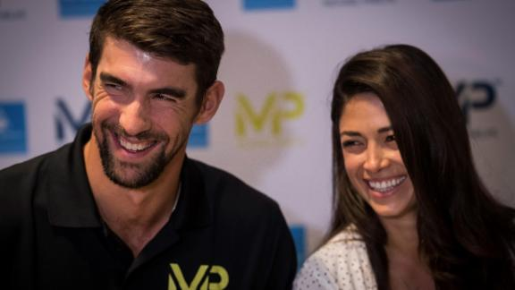 Michael Phelps credits his wife Nicole for helping him manage his depression.