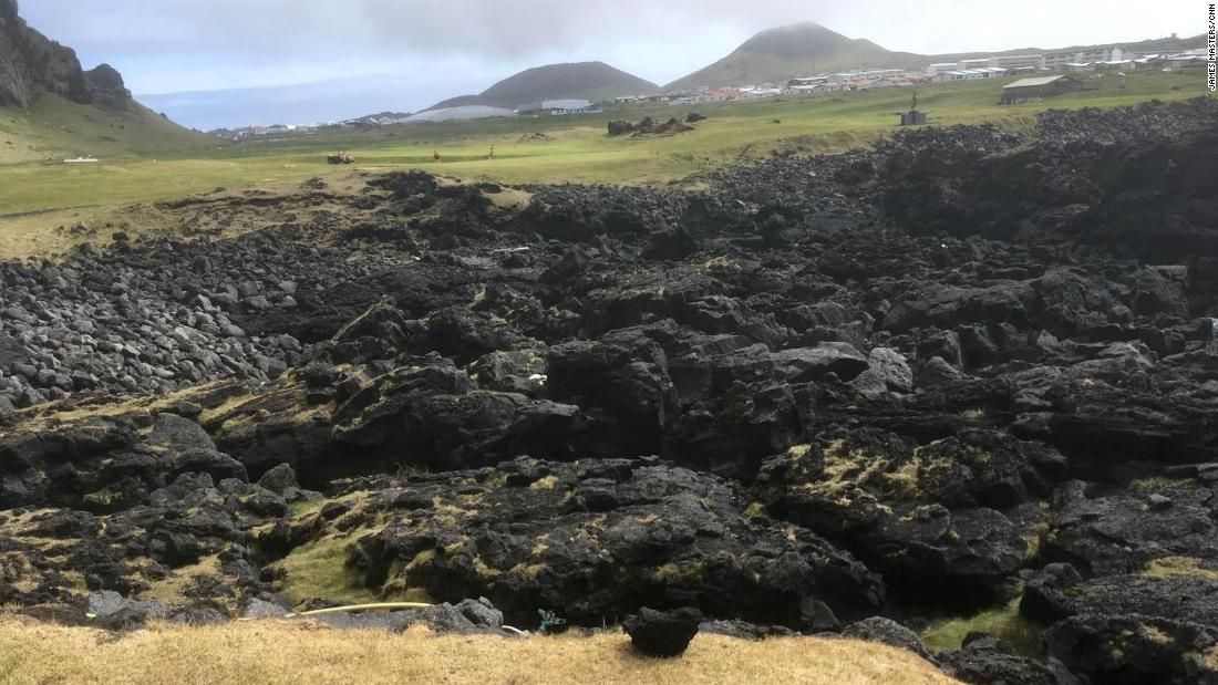 The lava fields means players have to be on their game if they want to avoid chipping their ball out from the black rock.