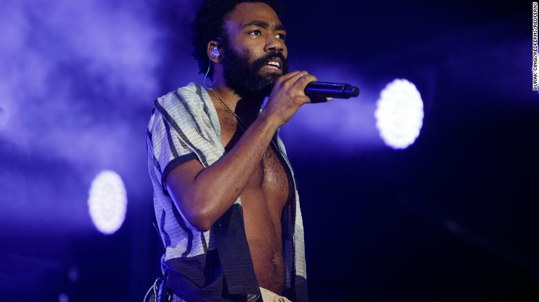 Childish Gambino performing at Lovebox festival at Gunnersbury Park on July 14, 2018 in London, England.