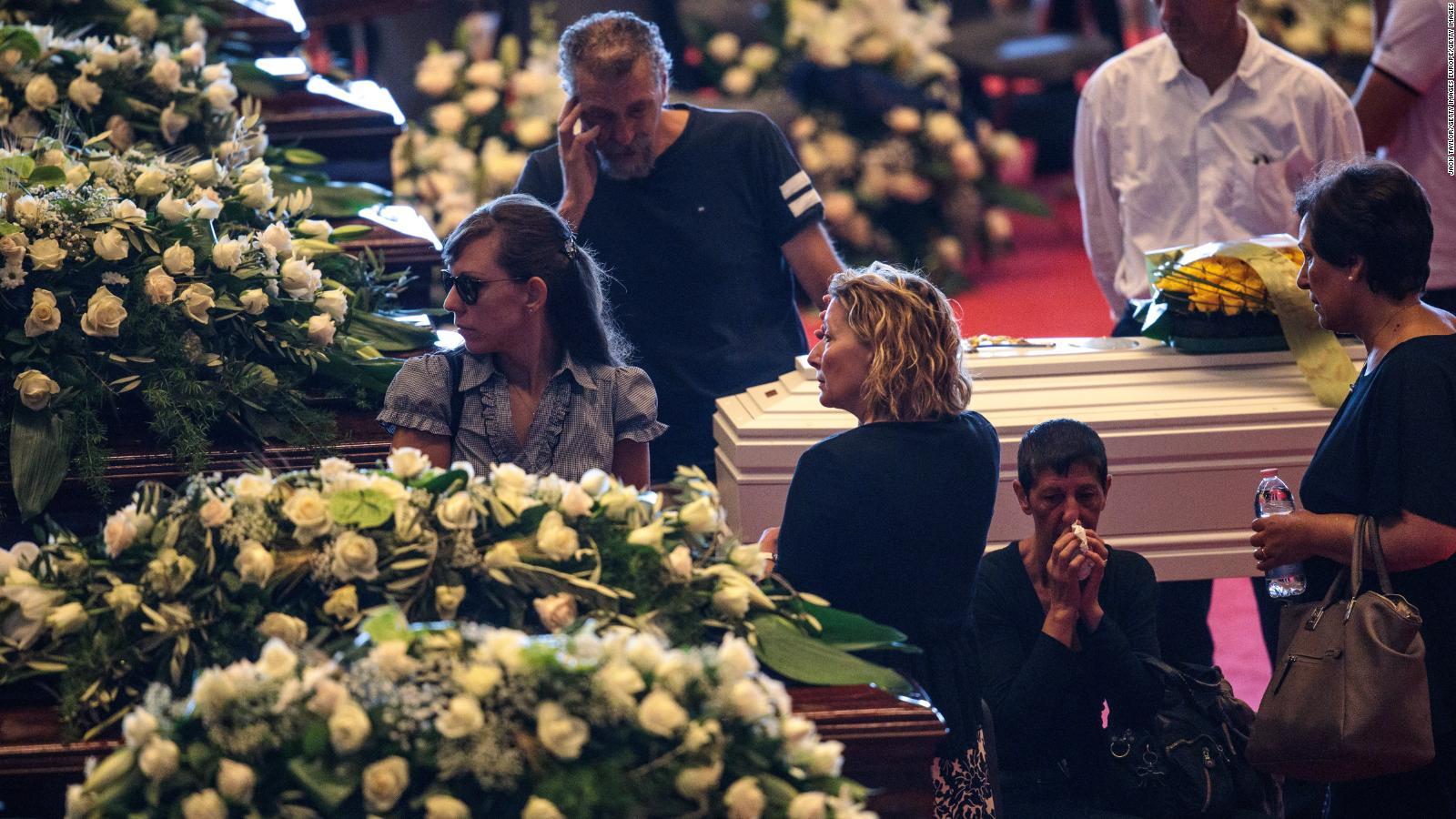 Genoa bridge collapse state funeral held for victims cnn izmirmasajfo