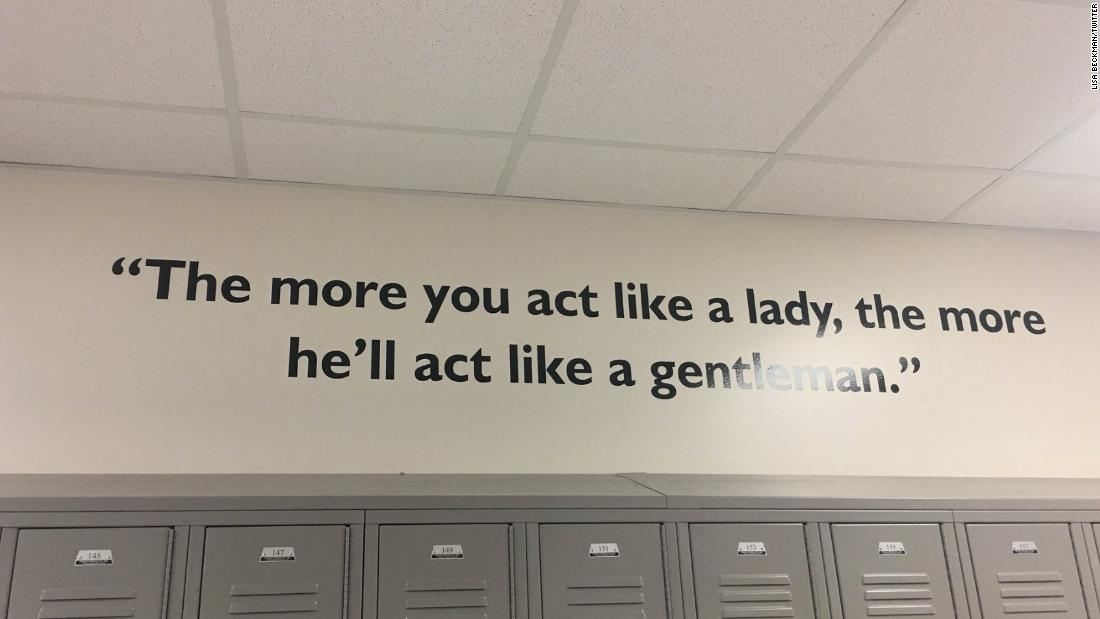 Houston School Takes Down Sexist Quote From Hallway Wall Cnn