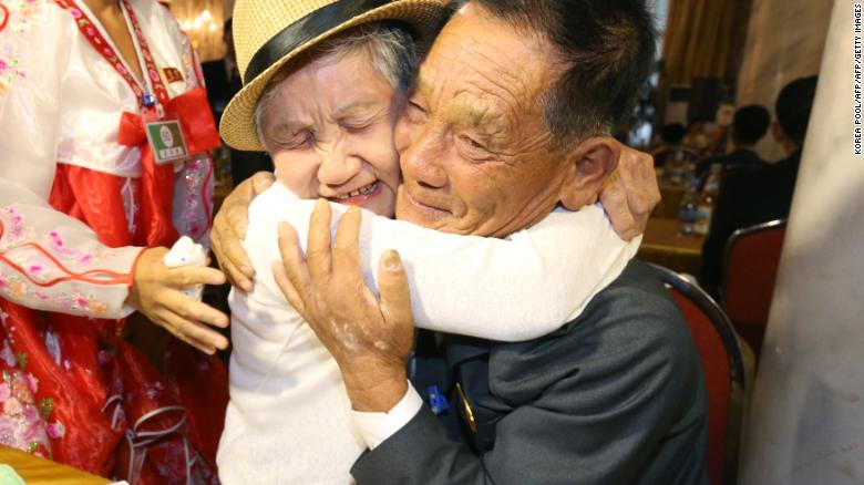 07b505478150 Korean reunions: Tears as mother and son meet for first time in 68 ...