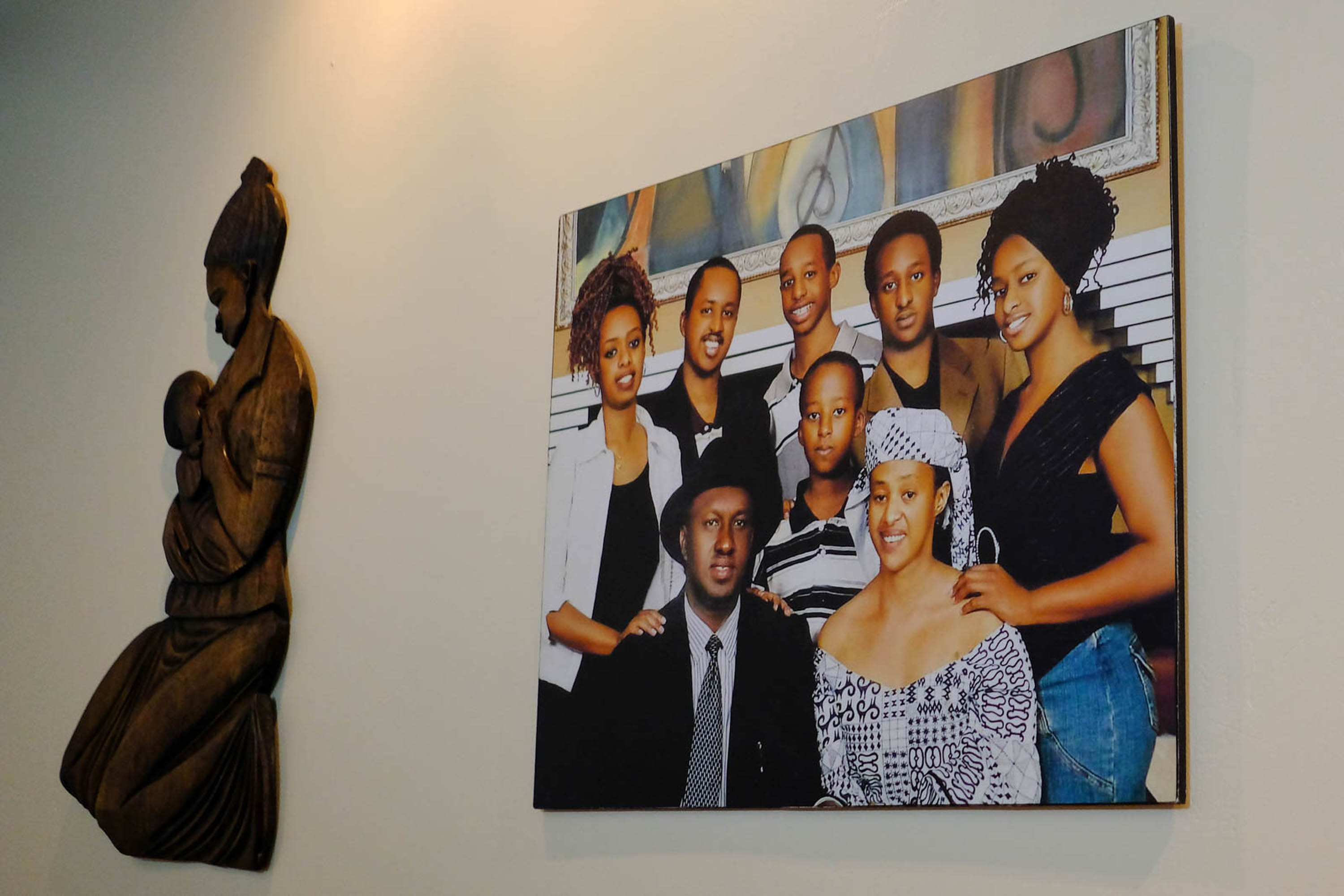 Diane Rwigara, far left, is seen in a family portrait at the Rwigara home in Kigali.