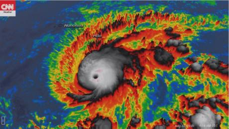 Hurricane Lane will be shown on Wednesday morning in a satellite image.