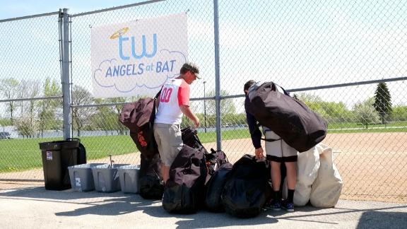 Angels at Bat Colorado branch members help with donations