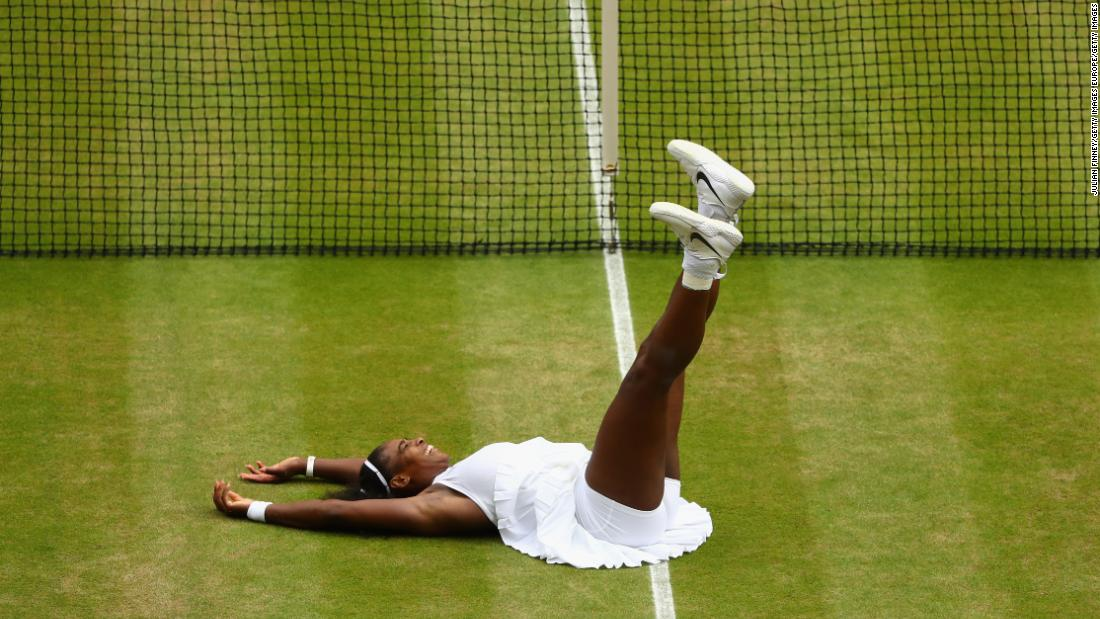 "A seventh Wimbledon title for the then world No.1 and now equal with Steffi Graf's Open era record of major titles.  ""This court definitely feels like home,"" says Williams after her straight sets win over Angelique Kerber in 2016."