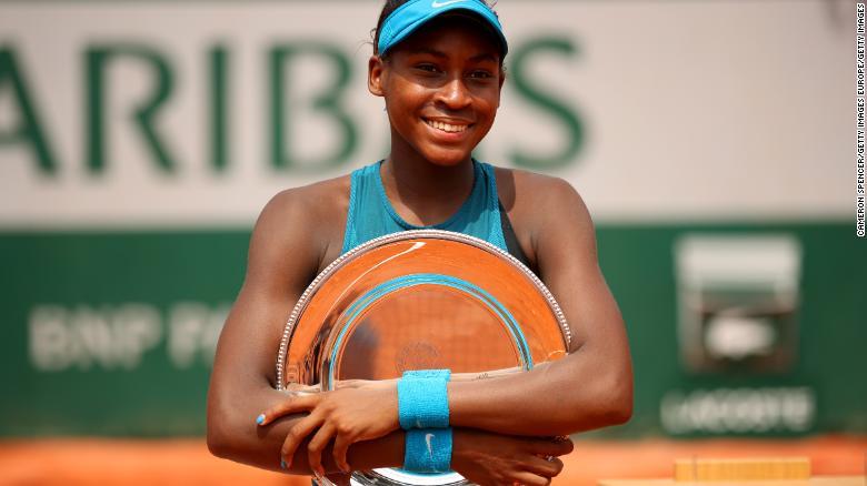 ผลการค้นหารูปภาพสำหรับ Cori 'Coco' Gauff, only 15, is the youngest player to qualify for Wimbledon