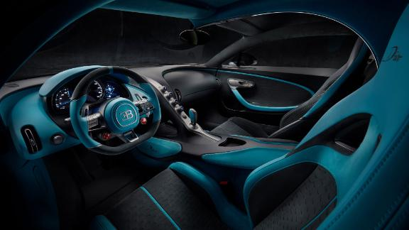 The interior of the Bugatti Divo is intended to have a very technical, rather than warm and luxurious, appearance.