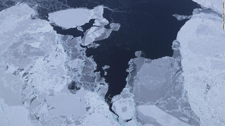Sea ice is seen from NASA's Operation IceBridge research aircraft off the northwest coast of Greenland. Scientists say the Arctic has been one of the regions hardest hit by climate change.