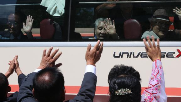 Elderly North and South Korean family members allowed to meet for the first time in nearly seven decades prepared to bid each other farewell on August 22, in all probability for the last time in their lives.