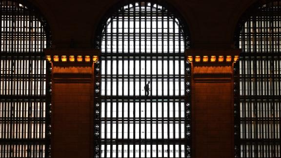 New York City, New York: The elevated glass walkways at Grand Central Terminal in Midtown Manhattan aren