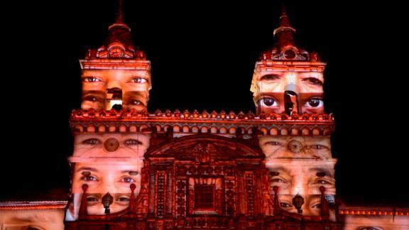 Quito, Ecuador: French artist Laurent Langlois
