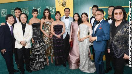 "The cast of ""Crazy Rich Asians""  in 2018."