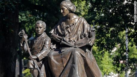 This monument recognizes the North Carolina women of the Confederacy at the state Capitol in Raleigh, North Carolina.