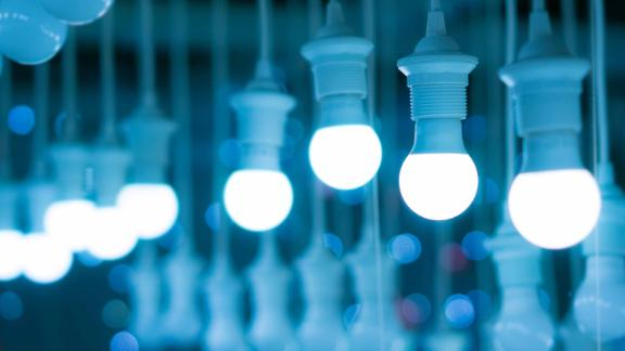 LED lightbulbs are far more efficient than their halogen counterparts.
