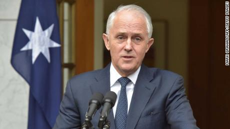 Australia's Prime Minister Malcolm Turnbull speaks at a press conference at Parliament House in Canberra on August 23, 2018. (MARK GRAHAM/AFP/Getty Images)