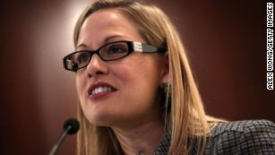 Arizona Senate: Kyrsten Sinema's anti-war group blasted 'U.S. terror,' depicted soldier as skeleton in 2003 flyers