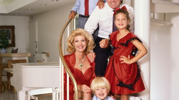 Trump and his family, circa 1986. Trump was married to Ivana Zelnicek Trump from 1977 to 1990, when they divorced. They had three children together: Donald Jr., Ivanka and Eric.