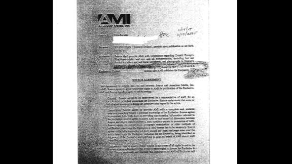 "CNN has exclusively obtained a copy of the ""source agreement"" between Sajudin and AMI, which is owned by David Pecker.    https://www.cnn.com/2018/08/24/politics/trump-tower-doorman-contract-ami/index.html"