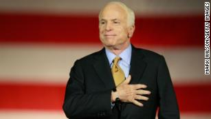 Sen. McCain will be honored this week for five days in three cities