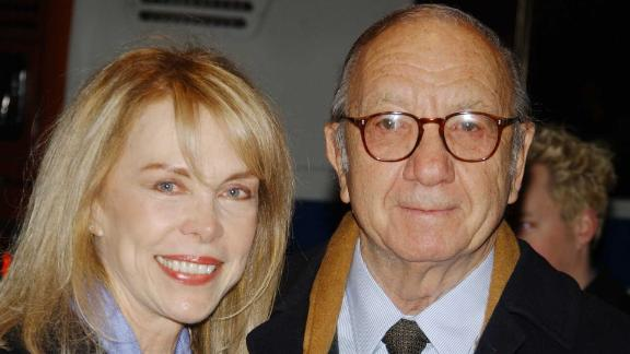 Playwrite Neil Simon arrives at the special screening of
