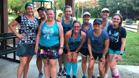 Amanda Netero's Florida group ran 10 miles.
