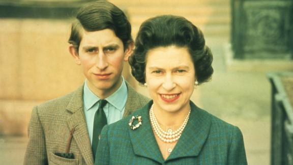 Queen Elizabeth II with her oldest son, Prince Charles, in 1969. Charles is next in line for the throne.