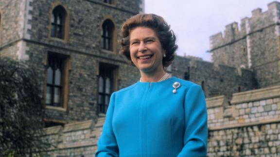 The Queen takes a portrait at Windsor Castle for her 50th birthday on April 21, 1976.