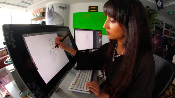 Fatma Almheiri at work.