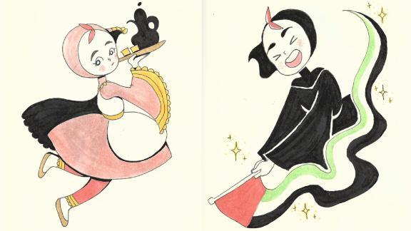 Fatma Almheiri's sketches of Emara.