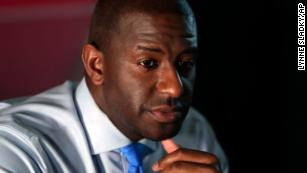 Bernie-backed progressive Andrew Gillum will face a Trump-styled Republican Ron DeSantis in Florida's governor's race