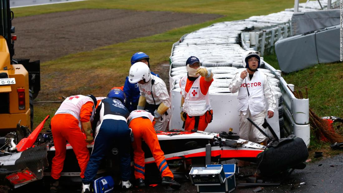 Jules Bianchi's death in 2015 -- nine months after his crash at the 2014 Japanese Grand Prix -- was the first in Formula One since Senna's. On a sodden Suzuka track, Bianchi lost control of his car and smashed into a recovery vehicle dealing with an earlier crash involving driver Adrian Sutil. As a result of the incident, F1 changed regulations for drainage on tracks and how vehicles would respond to crashes.