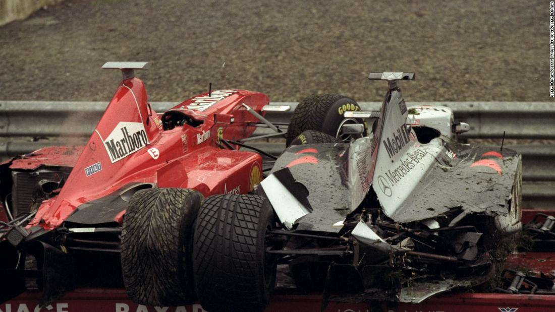 If the first corner in Sunday's Belgian Grand Prix seemed hectic, it pales in comparison to that of the 1998 edition. In yet another Spa deluge and with the drivers barely visible on TV through the rain, 13 drivers spun out in the opening seconds. The race restarted more than an hour later and featured 18 of the 22 drivers as teams were then allowed spare cars, a rule that has since been abolished.
