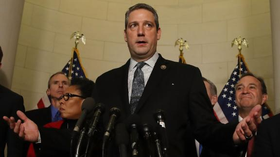 Rep. Tim Ryan (D-OH), speaks to the media after the House Democratic leadership elections on Capitol Hill, November 30, 2016