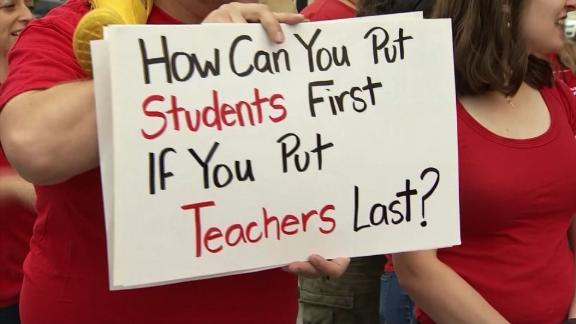 Washington teachers protest and prepare to strike.