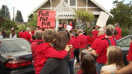 Teachers on strike Tuesday could be joined by educators from more school districts later this week.