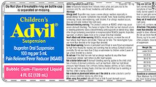 Consumers should discontinue use of recalled children's Advil.