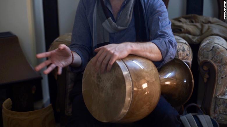 Ruairi Glasheen's very own tonbak drum.