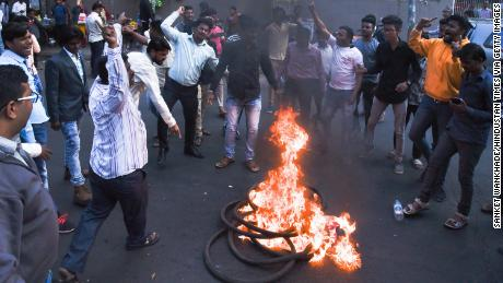 Protests and clashes broke out on the streets of Pune, India, after members of the Dalit caste held a rally to commemorate the 200th anniversary of the Battle of Koregaon.