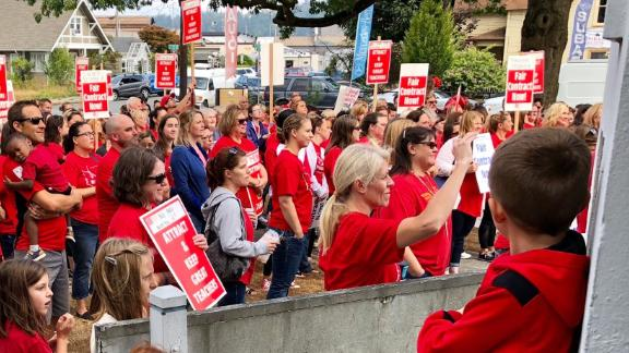 More Washington state teachers could go on strike just as the school year begins.